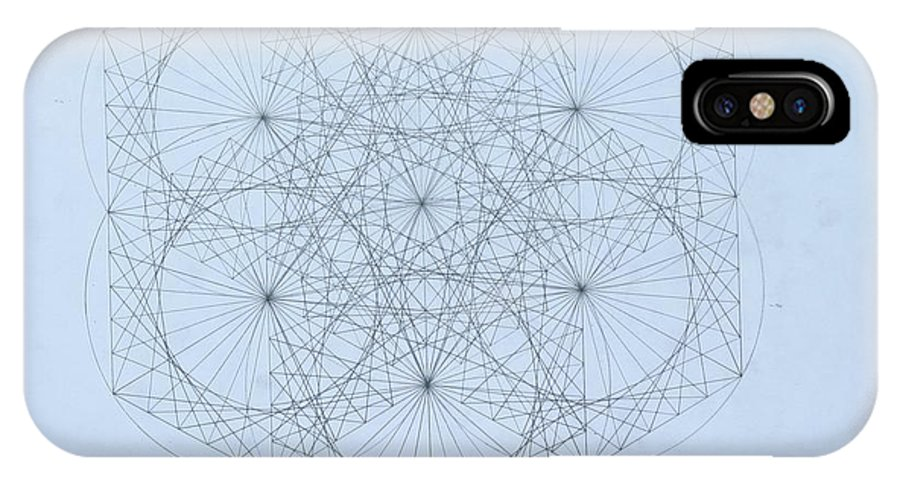 Jason Padgett IPhone X Case featuring the drawing Quantum Snowflake by Jason Padgett