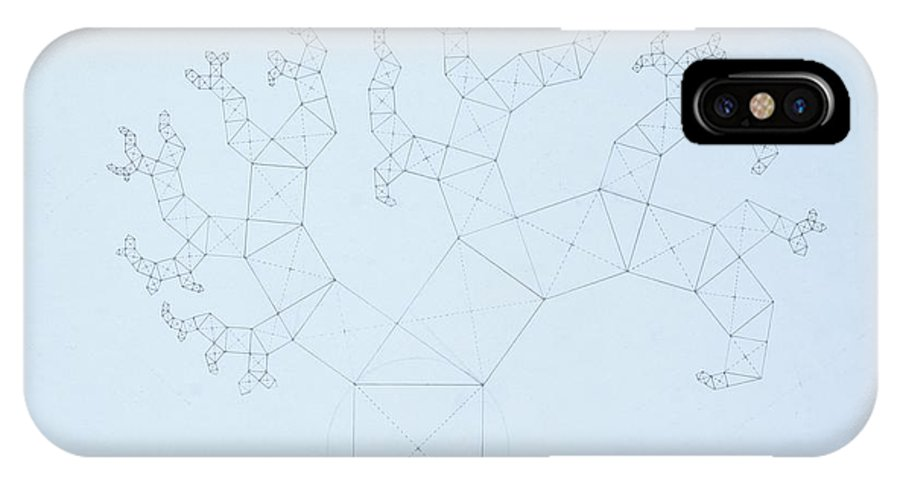 Fractal Tree IPhone X Case featuring the drawing Quantum Tree by Jason Padgett