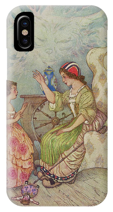 """Gulliver IPhone X Case featuring the drawing """"the Young Girls Of Quality by Mary Evans Picture Library"""