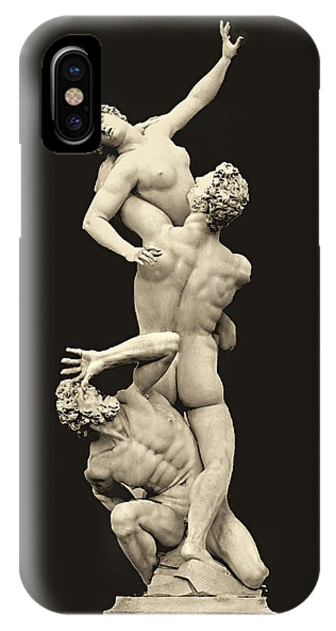 Rape Of The Sabine IPhone X Case featuring the photograph Rape Of The Sabine Fnt 323 by Norberto Torriente