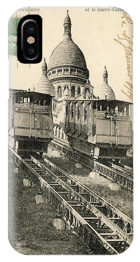 Paris IPhone X Case featuring the photograph Sacre Coeur, Montmartre by Mary Evans Picture Library