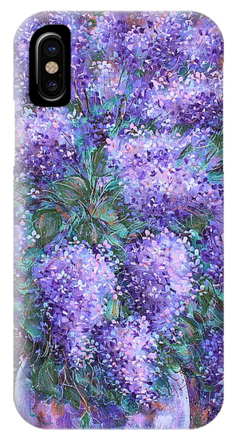 Flowers IPhone Case featuring the painting Scented Lilacs Bouquet by Natalie Holland