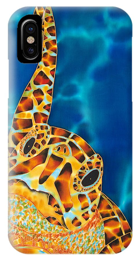 Sea Turtle Art IPhone X Case featuring the painting Sea Turtle by Daniel Jean-Baptiste