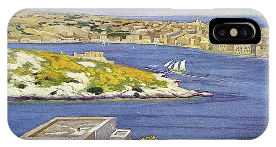 Malta IPhone X Case featuring the drawing Sliema A Suburb Of Valletta, Popular by Mary Evans Picture Library