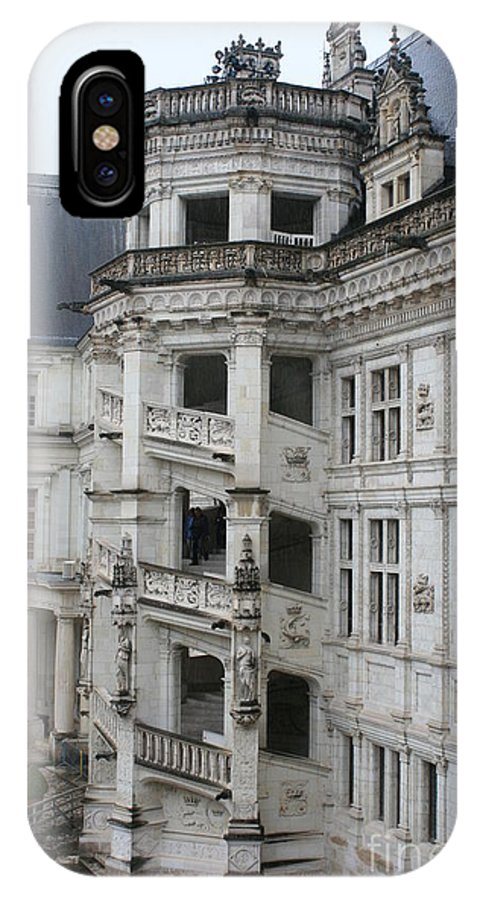 Stairs IPhone X Case featuring the photograph Spiral Staircase In The Francois I Wing - Chateau Blois by Christiane Schulze Art And Photography