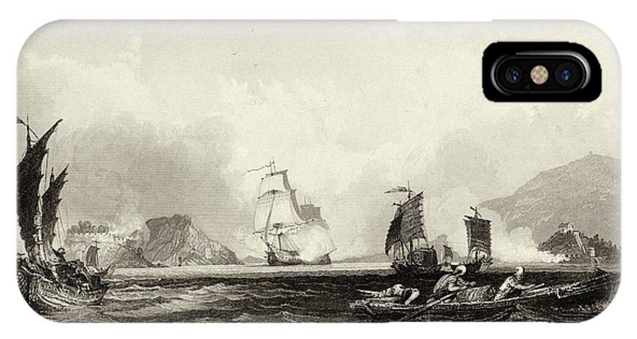 Opium IPhone X Case featuring the drawing The British Fleet Forces A Passage by Mary Evans Picture Library