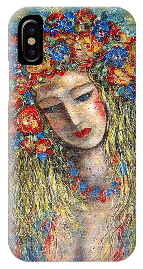 Painting IPhone Case featuring the painting The Loving Angel by Natalie Holland