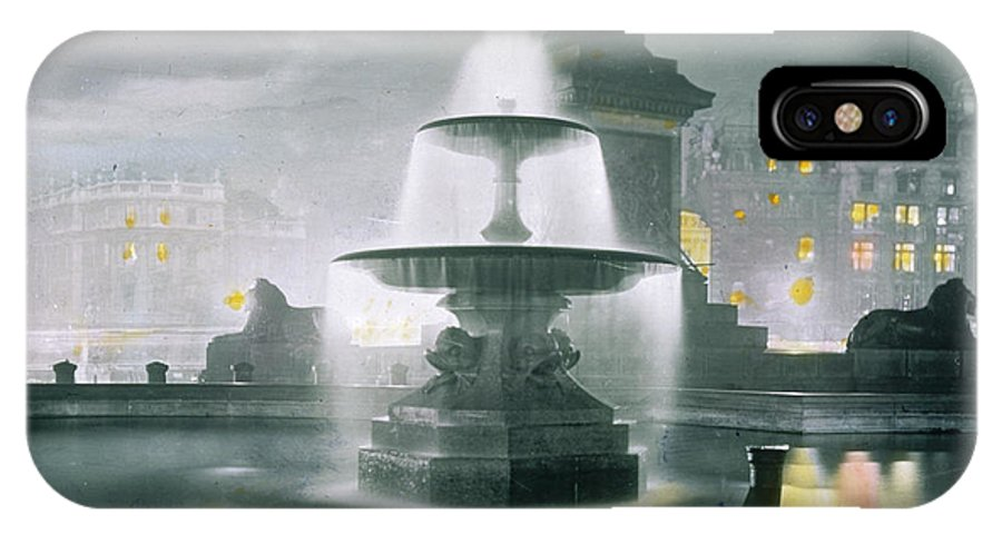 Trafalgar IPhone X Case featuring the photograph Trafalgar Square At Night Showing by Mary Evans Picture Library