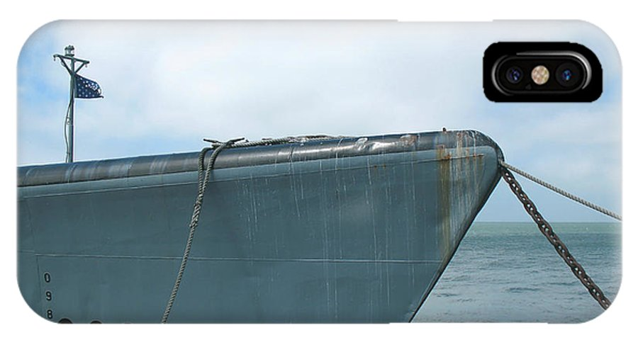 Uss Pampanito IPhone X Case featuring the photograph Uss Pampanito - Vintage Submarine by Connie Fox
