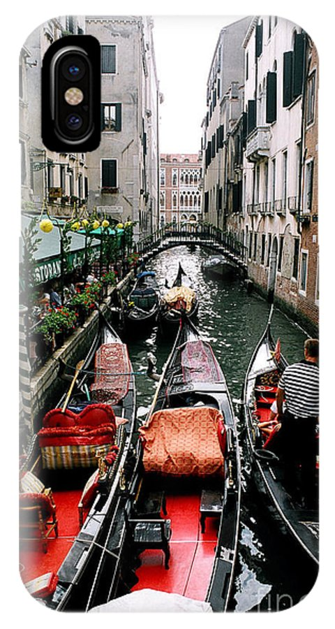 Venice Paintings IPhone X Case featuring the photograph Venice Canal by Sandy MacNeil