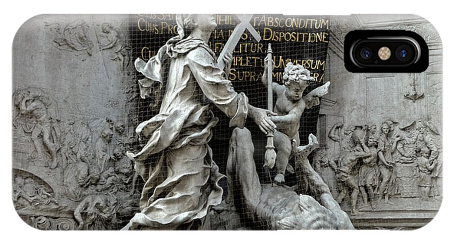 Vienna Austria IPhone X Case featuring the photograph Vienna Austria - Plague Monument by Gregory Dyer