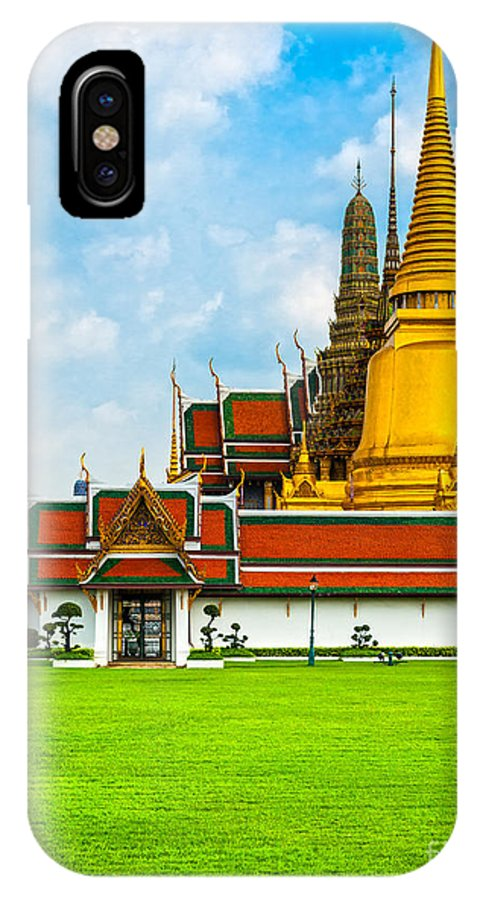 Architecture IPhone X Case featuring the photograph Wat Phra Kaew - Bangkok by Luciano Mortula