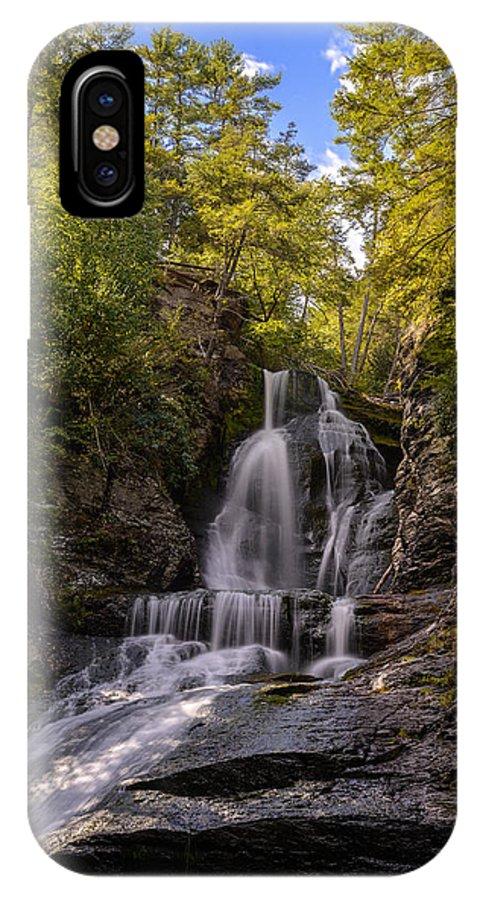 Autumn IPhone X Case featuring the photograph Waterfall by Jan Gorzynik