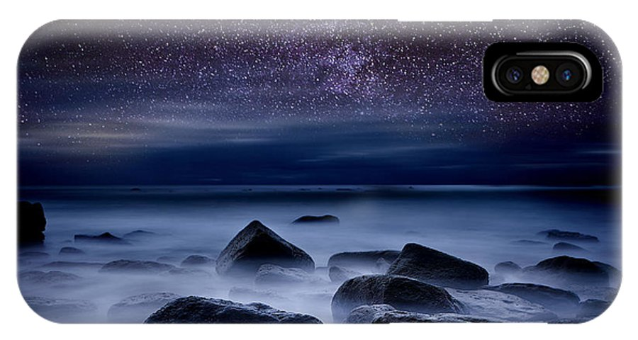 Night IPhone X Case featuring the photograph Where Dreams Begin by Jorge Maia