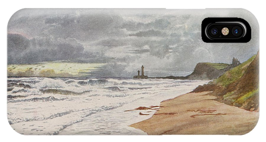 Whitby IPhone X Case featuring the drawing Whitby, Yorkshire A Deserted Beach by Mary Evans Picture Library