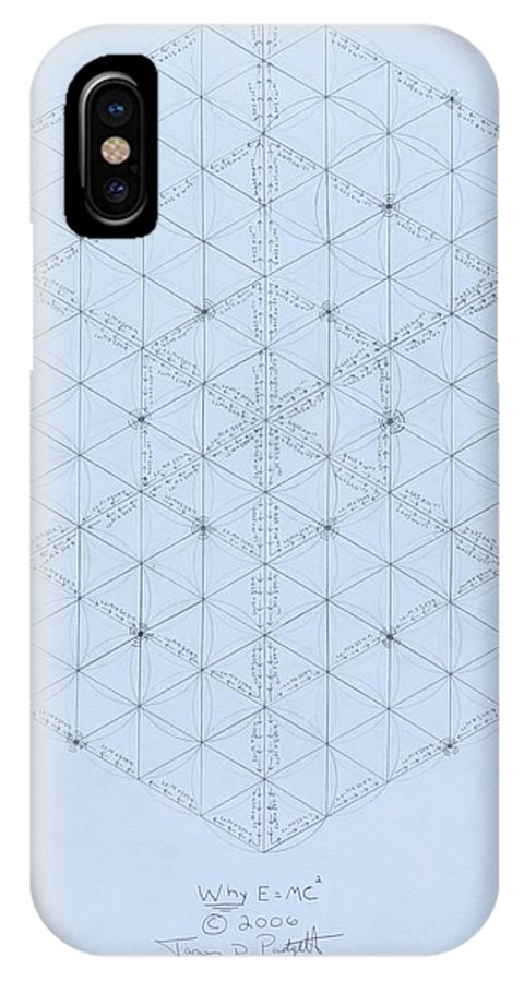 Energy IPhone X Case featuring the drawing Why Energy Equals Mass Times the Speed of Light Squared by Jason Padgett