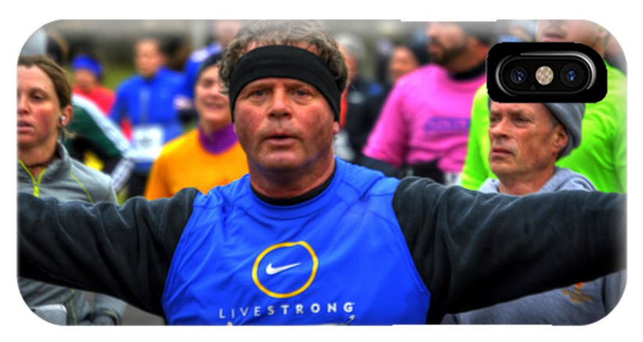 Michael Frank Jr IPhone X / XS Case featuring the photograph 0010 Turkey Trot 2014 by Michael Frank Jr