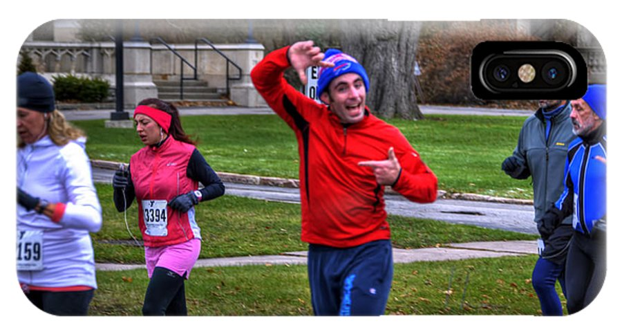 Michael Frank Jr IPhone X / XS Case featuring the photograph 0012 Turkey Trot 2014 by Michael Frank Jr