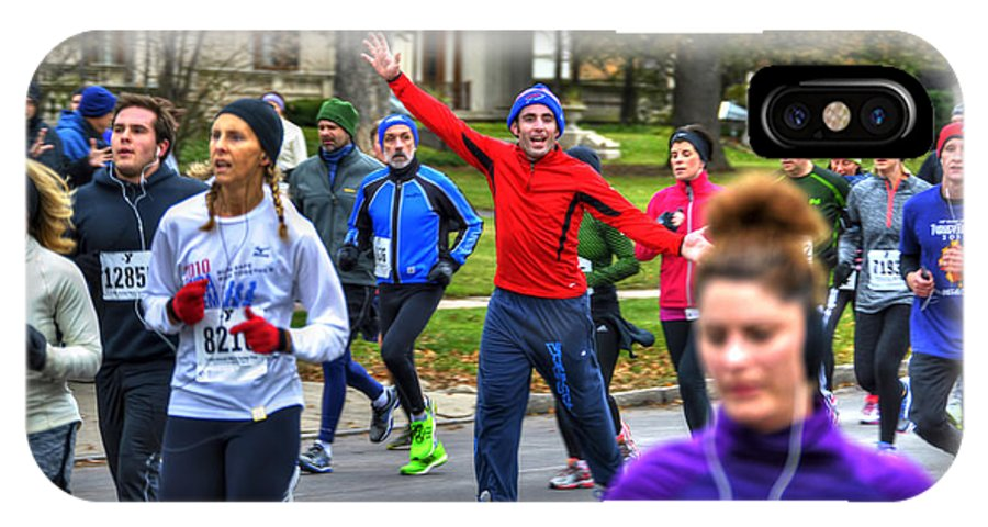 Michael Frank Jr IPhone X / XS Case featuring the photograph 0013 Turkey Trot 2014 by Michael Frank Jr