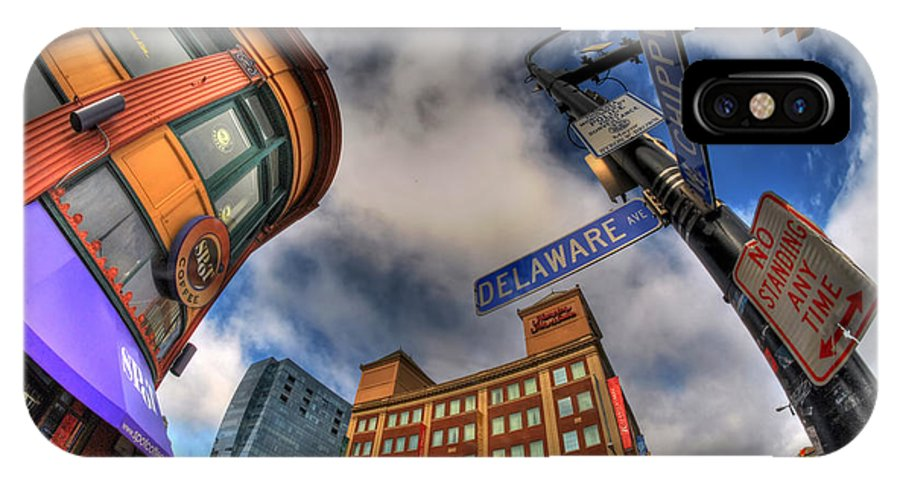 Buffalo IPhone X Case featuring the photograph 002 Delaware And Chipp by Michael Frank Jr