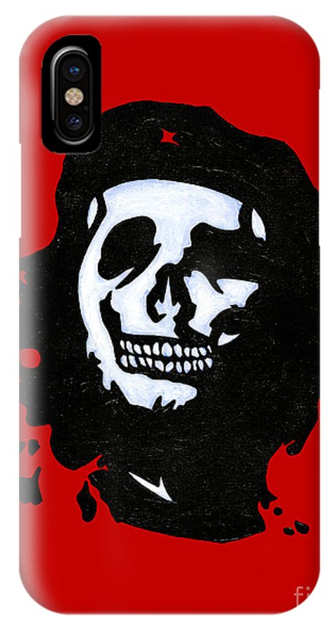 Revolution IPhone X Case featuring the painting Che Of The Dead by Brian Bingham