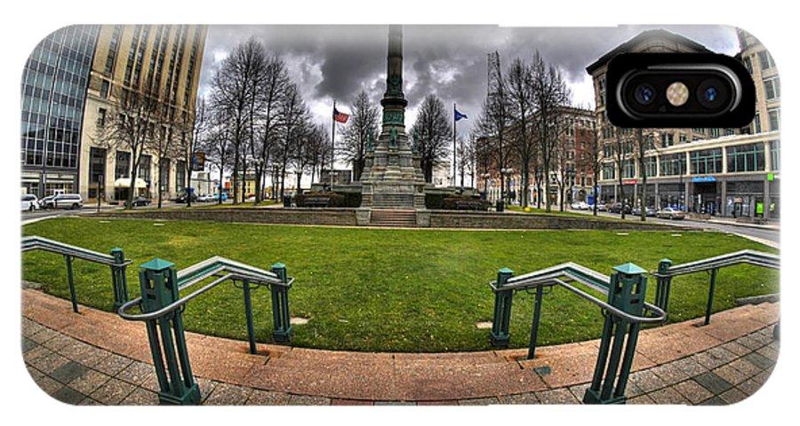 Michael Frank Jr IPhone X / XS Case featuring the photograph 0029 Lafayette Square by Michael Frank Jr