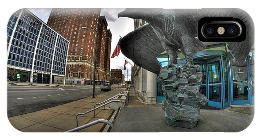 Michael Frank Jr IPhone X / XS Case featuring the photograph 004 Court House Delaware Ave by Michael Frank Jr