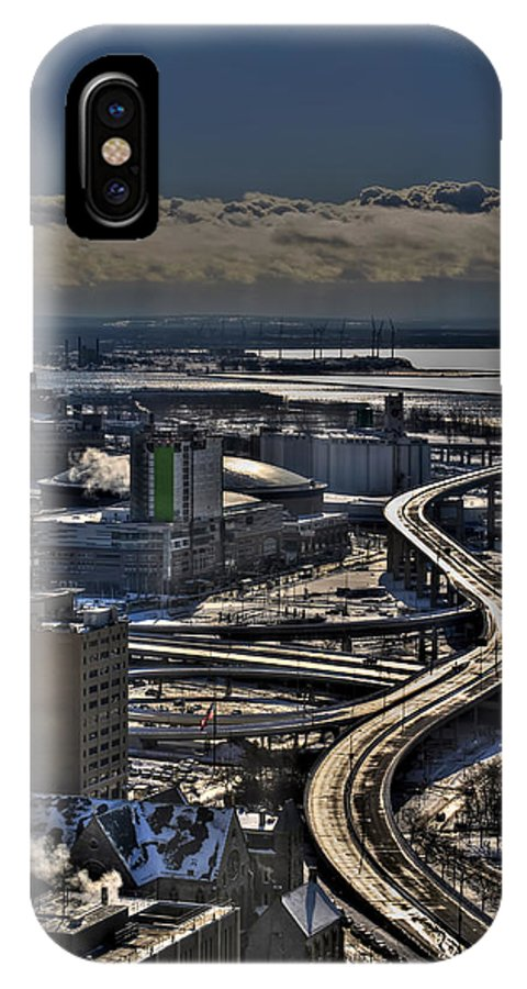 Michael Frank Jr IPhone X / XS Case featuring the photograph 0041 After The Nov 2014 Storm Buffalo Ny by Michael Frank Jr