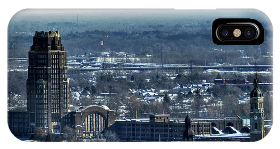 Michael Frank Jr IPhone X / XS Case featuring the photograph 0045 After The Nov 2014 Storm Buffalo Ny by Michael Frank Jr