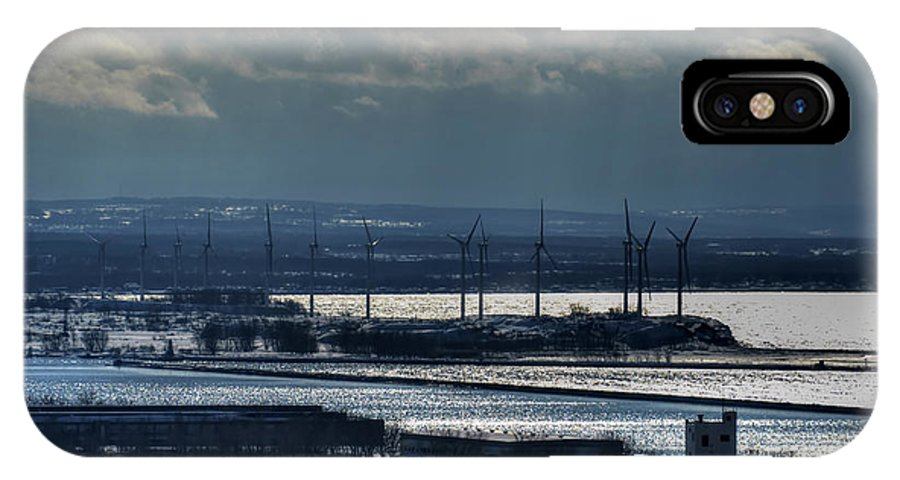 Michael Frank Jr IPhone X / XS Case featuring the photograph 0046 Winter Turbines by Michael Frank Jr