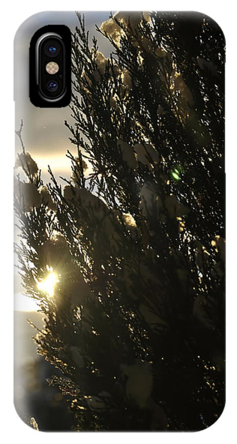 Michael Frank Jr IPhone X / XS Case featuring the photograph 005 Peaking Winter Sunrise by Michael Frank Jr