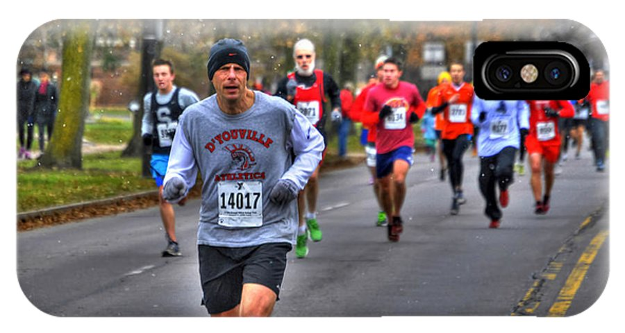 Michael Frank Jr IPhone X / XS Case featuring the photograph 005 Turkey Trot 2014 by Michael Frank Jr