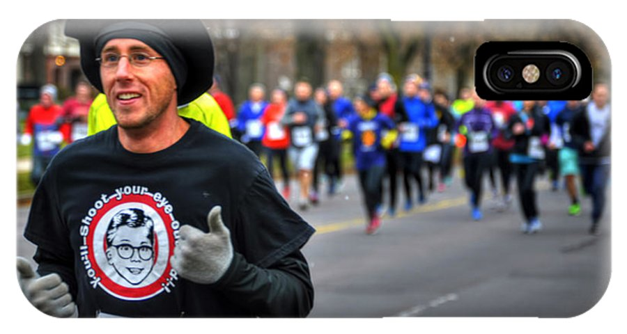 Michael Frank Jr IPhone X / XS Case featuring the photograph 006 Turkey Trot 2014 by Michael Frank Jr
