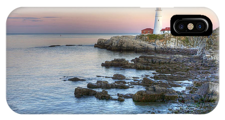 Portland IPhone X Case featuring the photograph 0312 Portland Head Lighthouse by Steve Sturgill
