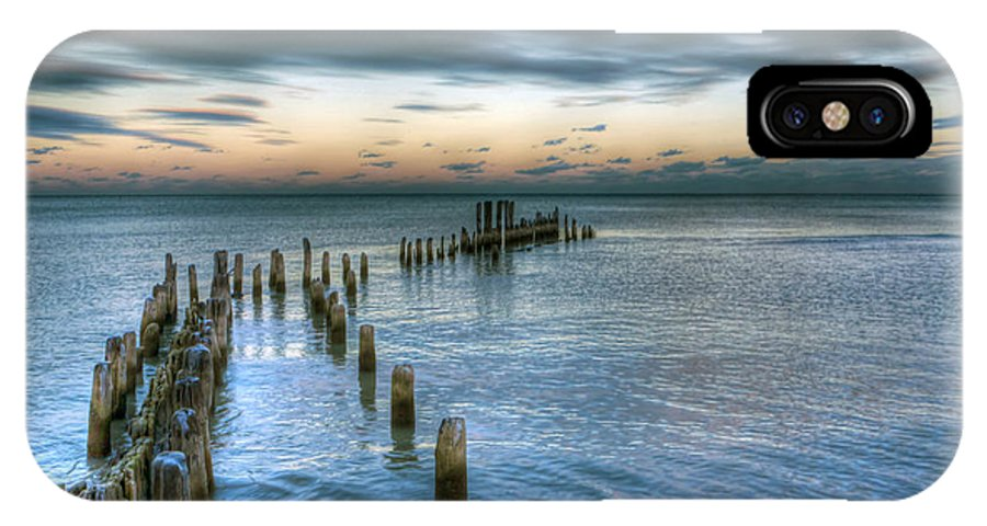 Lake IPhone X Case featuring the photograph 0411 Lake Michigan by Steve Sturgill