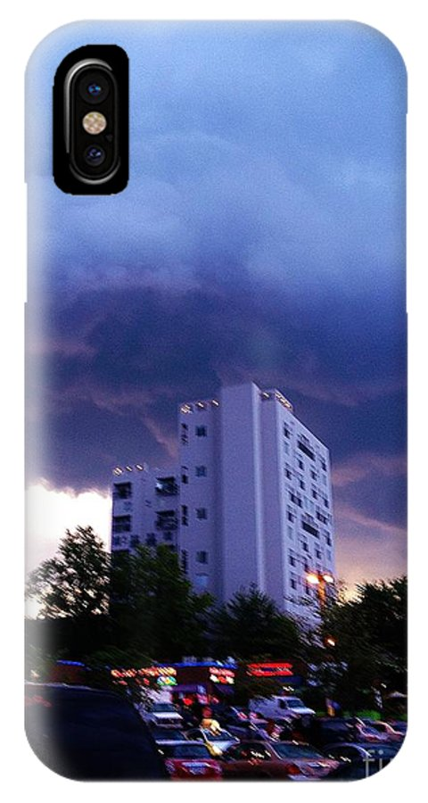 Sky IPhone X Case featuring the photograph 05222012007 by Debbie L Foreman