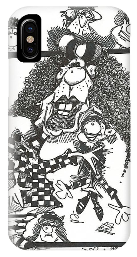 Drawing IPhone X Case featuring the drawing 061 by Philip Blanche