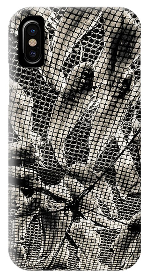 Fish In Net IPhone X Case featuring the photograph 0619 by Matthew Pace