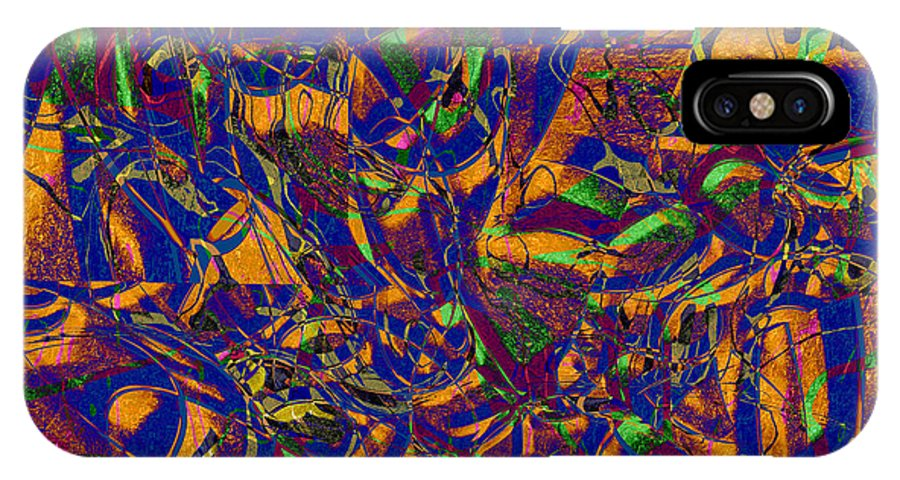 Abstract IPhone X Case featuring the digital art 0630 Abstract Thought by Chowdary V Arikatla