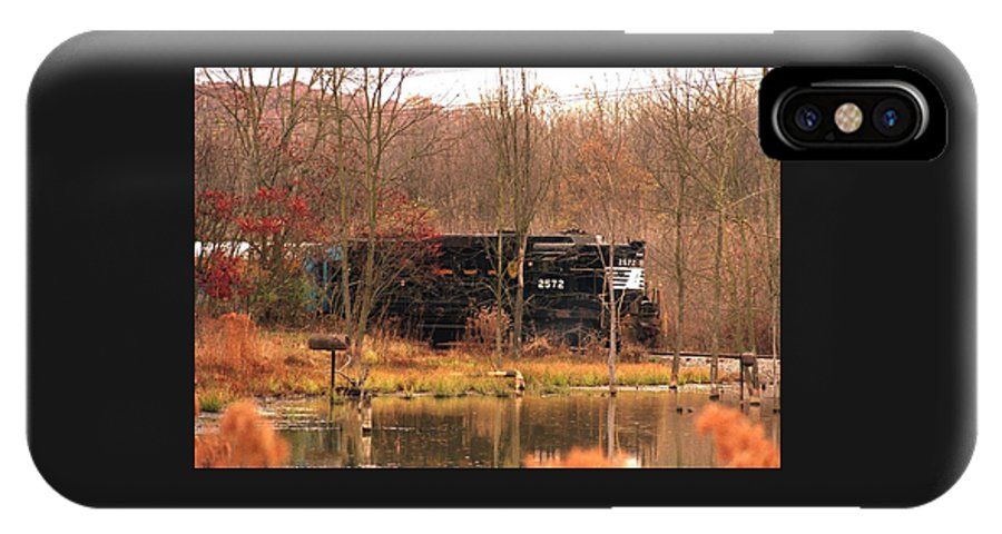 Train IPhone X Case featuring the photograph 080706-57 by Mike Davis