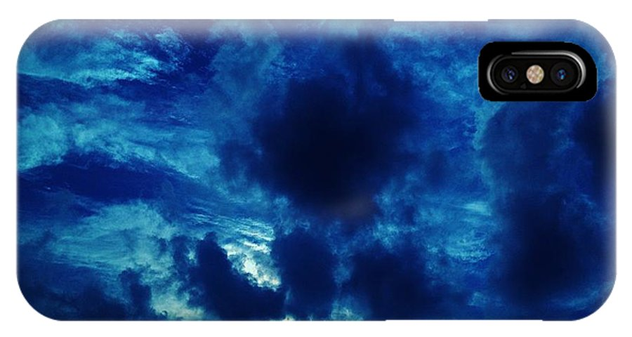 Clouds IPhone X Case featuring the photograph 08212013009 by Debbie L Foreman
