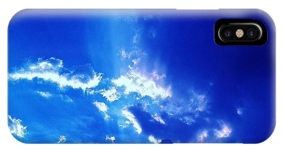 Sky IPhone X Case featuring the photograph 08212013011 by Debbie L Foreman