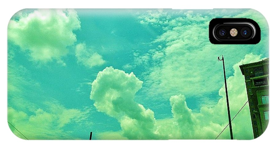 Sky IPhone X Case featuring the photograph 08212013060 by Debbie L Foreman