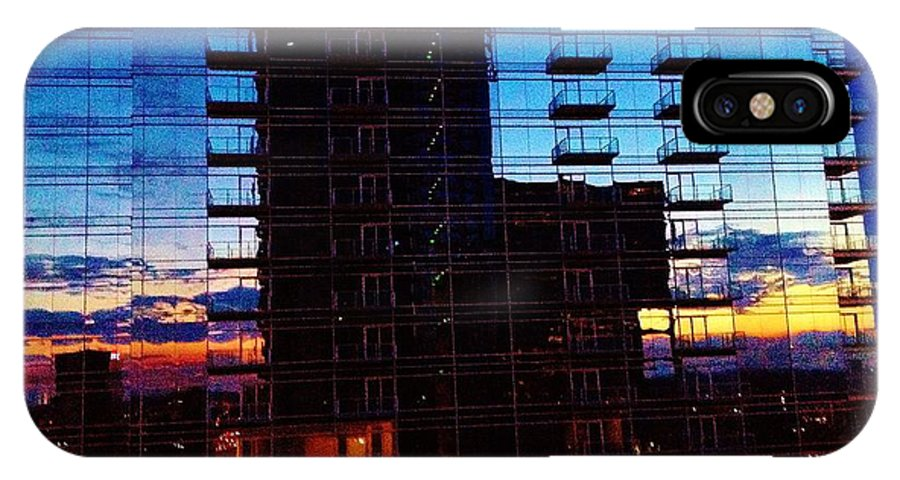 City IPhone X Case featuring the photograph 08252013002 by Debbie L Foreman