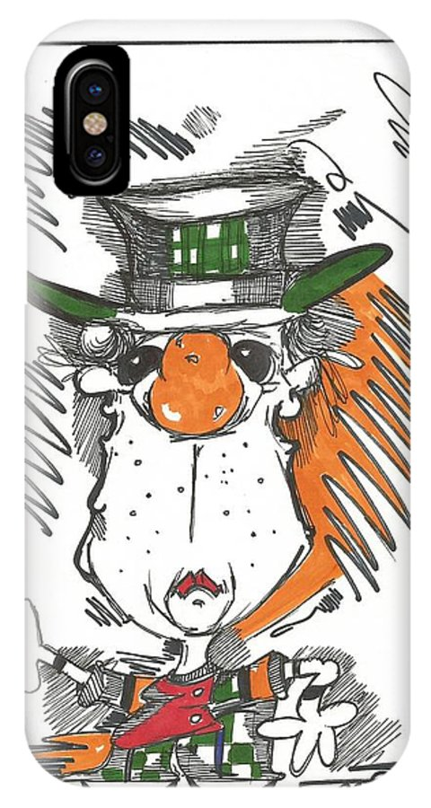 Drawing IPhone X Case featuring the drawing 083 by Philip Blanche