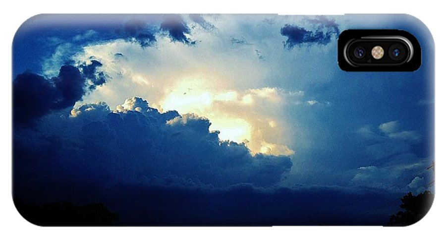 Sky IPhone X Case featuring the photograph 05222012005 by Debbie L Foreman
