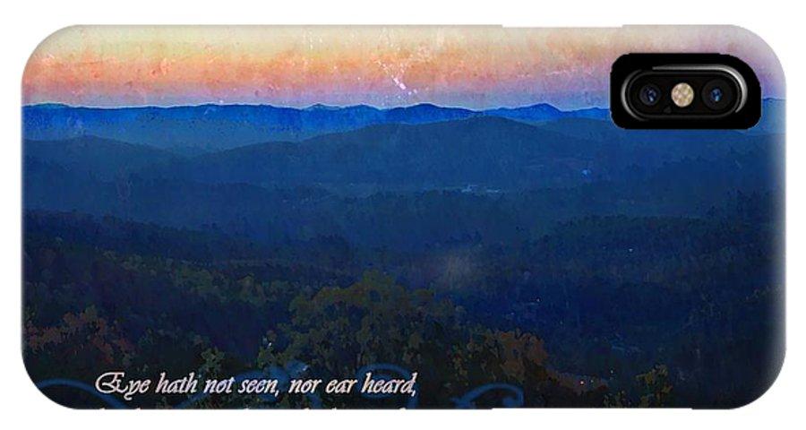 Jesus IPhone X Case featuring the digital art 1 Corinthians 2 9 by Michelle Greene Wheeler