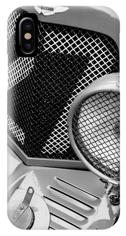 1935 Aston Martin Ulster Race Car Grille IPhone X Case featuring the photograph 1935 Aston Martin Ulster Race Car Grille by Jill Reger