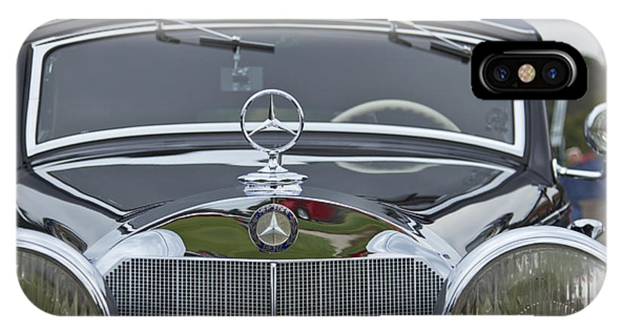 Antique IPhone X Case featuring the photograph 1937 Mercedes Benz by Jack R Perry