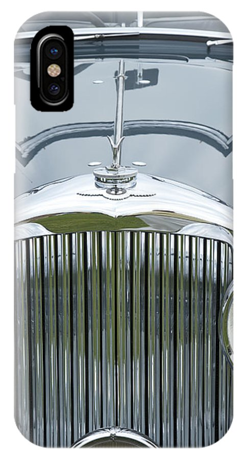 Antique IPhone X Case featuring the photograph 1938 Bentley by Jack R Perry